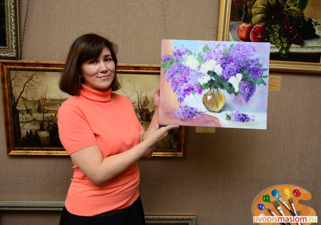живопись для начинающих цветы
