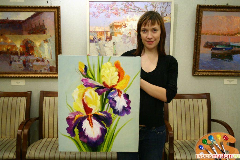 уроки живописи цветов маслом