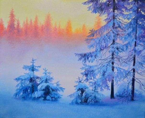 """Урок """"Зимний пейзаж"""" со скидкой"""