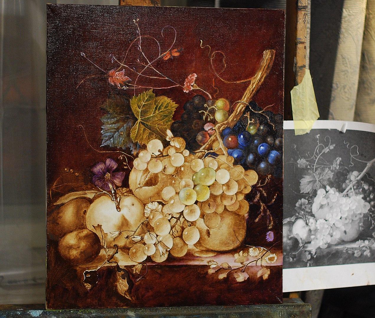 Надежда Ильина рассказывает о фламандском методе живописи…